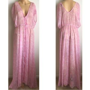 NA-KD Button up Kimono Dress Pink 40 M L